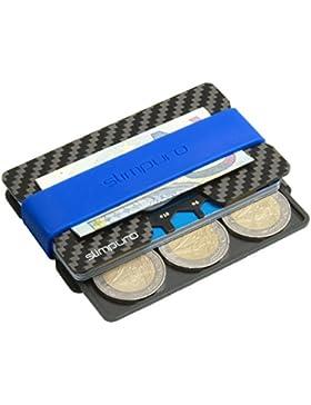 Tarjetero de Carbono con Monedero y Clip para Billetes | Protección RFID y NFC | Tarjeta Multiusos | Más Fino...