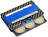 SLIMPURO Carbon Kreditkartenetui Geldklammer und Münzfach
