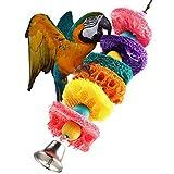 Tefamore Papagei Spielzeug Vogel Käfig Kakadu Conure Griff kauen Luffa Schwamm Biss-resistent