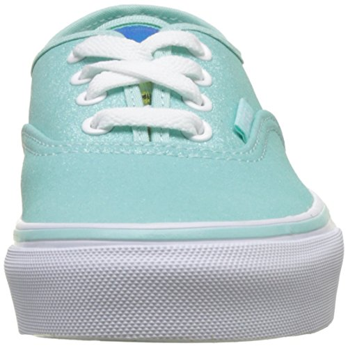 Vans Uy Authentic, Baskets Basses Fille Bleu (Glitter And Iridescent Blue/true White)