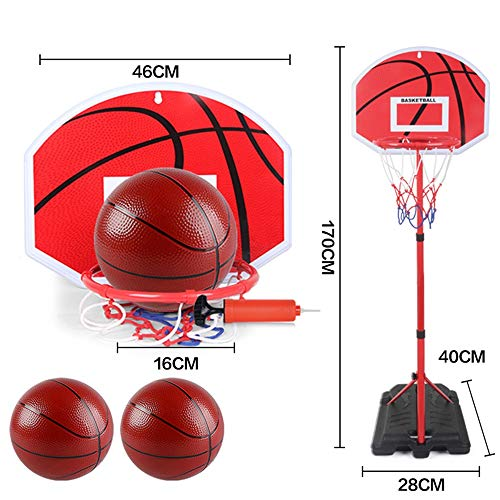 SONGYU Basketballständer Kind Innen- Heben Basketballkorb Haushalt Kinder Schießen Basketball-Rahmen Outdoor-Shooting-Spielzeug Korbringdurchmesser 23cm (Size : 2 Ball)
