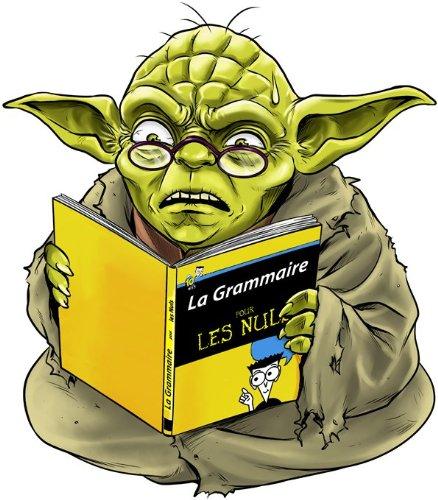 T-Shirt Noir Star Wars parodique Yoda : en Grammaire, Un zéro, il est. : (Parodie Star Wars)