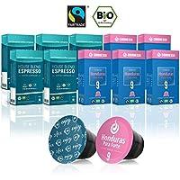 Gourmesso Bio & Fairtrade Box - 100 Nespresso kompatible Kaffeekapseln