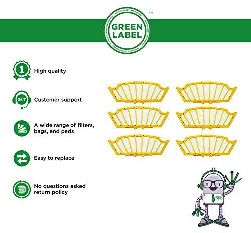 Zoom IMG-1 green label confezione da 6
