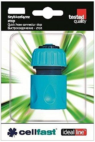 Perel Cellfast Schnellschlaug Konnektor mit Wasser-Stopp, 3/4-5/8 Zoll, 9 x 5 x 13 cm, blau, CF50-125