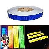 Tuqiang 25MM X 5M Reflektierende Band Selbstklebende Sicherheit Warnung Conspicuity Nacht Reflektor Streifen Tape Film Aufkleber (Blau)