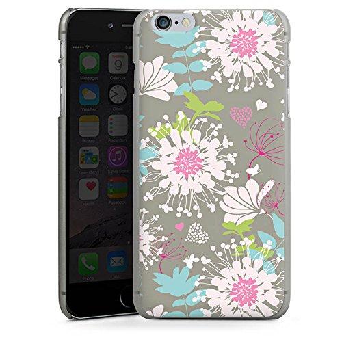 Apple iPhone X Silikon Hülle Case Schutzhülle Blumen Dekor Oldschool Hard Case anthrazit-klar