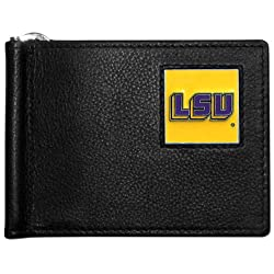 NCAA LSU Tigers Leather Bill Clip Wallet