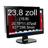 Xianan 23.8 zoll Widescreen 16:9 Displayfilter Bildschirmfilter Blickschutzfilter Blickschutzfolie Blickschutz Sichtschutz 20.75*11.67zoll/527*296.5mm