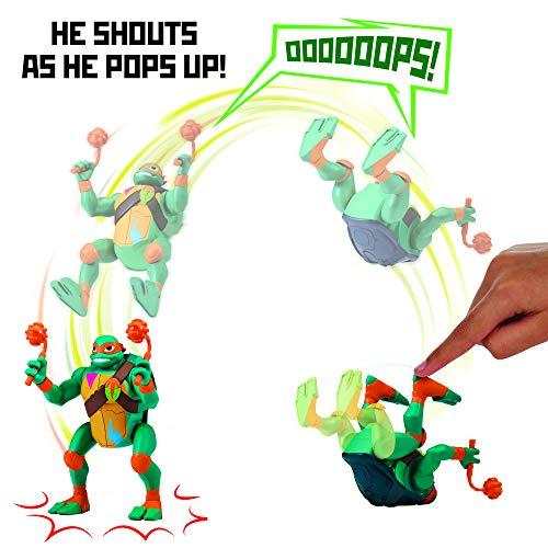 Return of the Teenage Mutant Ninja Turtles 81403 ROTMNT-Deluxe Michelangelo vorwärts Salto Attacke Deluxs Action Figur, mehrere Farben