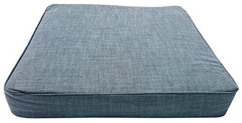 Famous Home Sitzkissen Loungekissen 60x60cm Ice Blue Extra Comfort (Pastell-breit-stuhl)