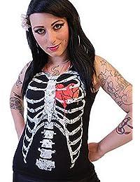 Côtes sans manches pour femmes Rouge Batte Par Darkside vêtements