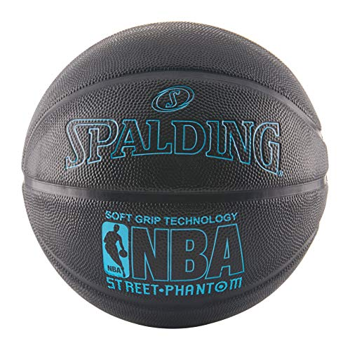 Spalding NBA Street Phantom Outdoor Basketball (Größe 7/29,5 Zoll), Unisex-Erwachsene, NBA Street PhantomTM Basketball, Neon Blue/Black, Official NBA Size and Weight: Size 7/29.5