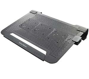CooMas NotePal U3 Notebook-Ständer mit 1-Port USB-Hub und Lüfter silber