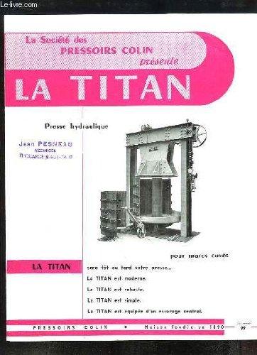 1 brochure publicitaire de la Presse Hydraulique p...