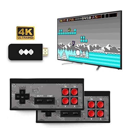 G-wukeer Klassische Retro-Spielekonsolen HDMI HD-Videospiel Mini-TV-Spielekonsole Eingebaute 568 Klassische Familienspiele Mit Zwei Controllern - Boy Game Mit M