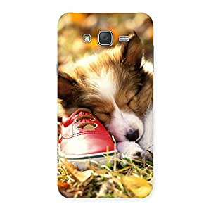 Special Cute Sleeping Puppy Back Case Cover for Galaxy J7