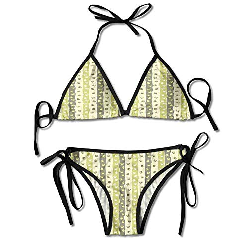 Custom Pattern Active Side Hipster Bikini Bottom Swimsuit for Women -