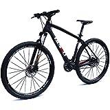 BEIOU Carbon 29 Zoll Mountainbike 29er Hardtail Fahrrad 2,10'Reifen Shimano Altus M370 27 Geschwindigkeit XC/Trail MTB T800 Ultralight Rahmen Matte 3K BOCB020-29 (schwarz, 19')