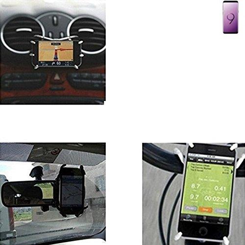"""für Samsung Galaxy S9 Autohalterung & Tischständer für Samsung Galaxy S9, schwarz """"Spider"""". Lüftungshalterung Halterung Rückspiegel, Fahrradhalterung etc. Stativ - K-S-Trade"""
