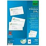Sigel IP532 - Tarjetas de visita (tecnología 3C, 100 tarjetas en 10 hojas, 210 gr, 85 x 55 mm), diseño tejido, color blanco