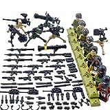 Spieland Mini Figuren Minifiguren Set - 8 Stück SWAT Armee Minifiguren Spielzeug Geschenk Pädagogisches Kinder