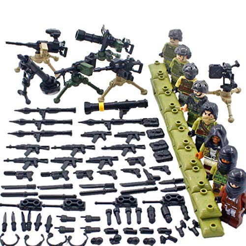 Yvsoo 8St. Mini Figuren Set SWAT Team Lauerende Person Minifiguren Ideales Geschenk für Kinder (4 Lego-sets Halo)