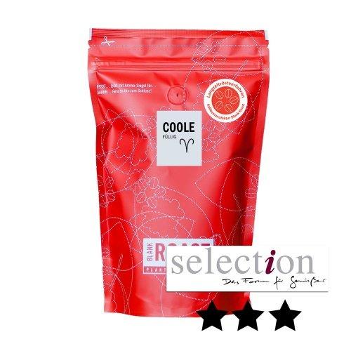 BlankRoast | Premium Kaffee Manufakturkaffee COOLE Kaffeebohnen Kaffeepulver | indischen Arabicabohnen / indischem Robusta Bohnen | Espresso Geschmack: Zartbitterschokolade Bohnen als ganze Bohne, Größe 1000g