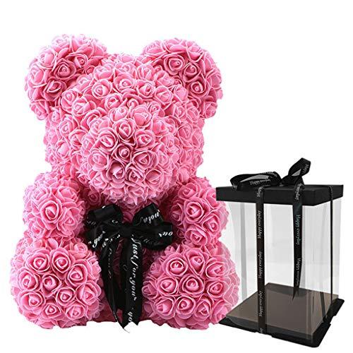EAPTS Künstliche PE Blumen Rosenbär Mit Geschenkbox Teddybären Valentinstag Geburtstagsgeschenke (Bilder Von Teddybären)