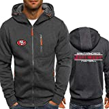 NFL Jersey Hoodie San Francisco 49Ers, Vêtements De Football À Manches Longues Zipper Sweat Confortable Casual
