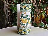 Portabicchieri in ceramica siciliana. Porta bicchieri in ceramica decorata a mano. Portabicchieri di plastica. Le ceramiche di Ketty Messina.