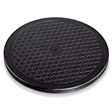 Hama 49590 universal rotary plate, round, 25.5 cm, load bearing capacity 60 kg (ideal for TV, speakers, monitors, kitchen appliances), black