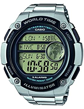 Casio Collection – Herren-Armbanduhr mit Digital-Display und Edelstahlarmband – AE-3000WD-1AVEF