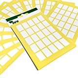 1,500 Sticky White Labels - 12mm x 18mm - Easy Peel Self Adhesive Rectangular Stickers - Ivy Stationery