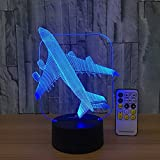 Best unknown Toys For Planes - Easuntec Baby Night Light Toy Plane 3D Night Review