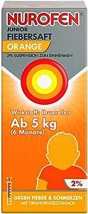 Nurofen Junior Fiebersaft Orange 2%, 100 ml Lösung