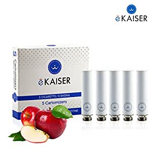 E-Zigarette   E-Liquid 5er Pack Weiß Cartomizer   Apfel-Geschmack   E-Shisha   für eKaiser Wiederaufladbar E-Shisha Zigarette
