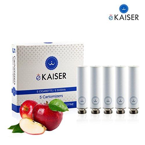 E-Zigarette | E-Liquid 5er Pack Weiß Cartomizer | Apfel-Geschmack | E-Shisha | für eKaiser Wiederaufladbar E-Shisha Zigarette