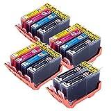 14Compatible Cartouches d'encre haute capacité de remplacement pour 364XL pour HP Photosmart 5510551155125514551565106512651575107515B010a B109a B109d B109F B110a B110C B110e HP Photosmart Plus B209a B209C B210a B210C HP Deskjet 3070A 3520Officejet 46104620imprimantes