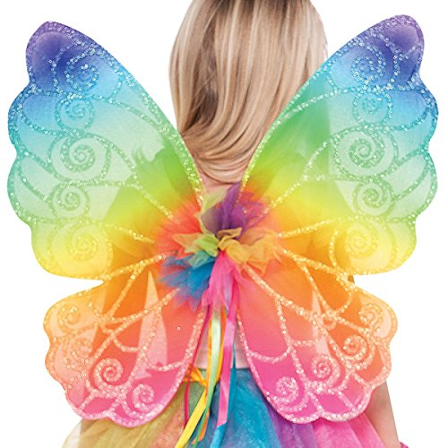 Fee Flügel Kostüm - Regenbogen Fee Flügel Kostüm Zubehör Kinder