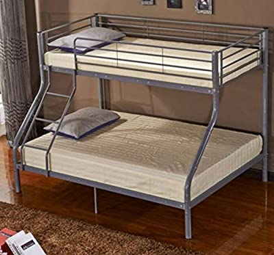 Triple Bunk Bed for Children with Metal Frame Sleeper for Kids optional to choose your Mattress produced by Mmilo® - quick delivery from UK.