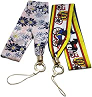 G'SOUL Neck Strap Lanyard Silk Wrist Strap Scarf Decoration for Mobile Phone Camera ID Card Or Key Holder