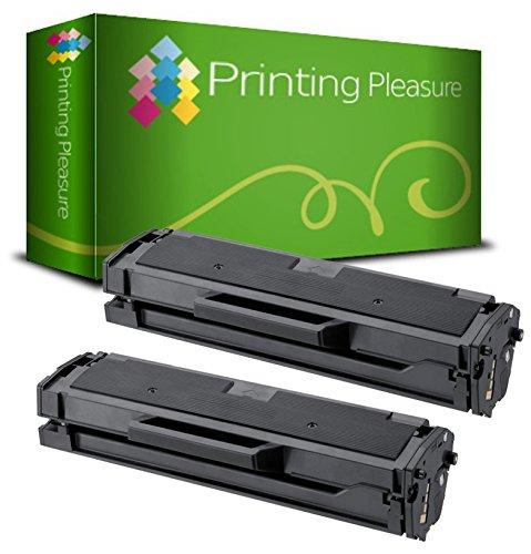 Printing Pleasure 2 Compatibles MLT-D101S Cartouches de Toner pour Samsung ML-2160 ML-2164W ML-2165 ML-2165W ML-2168 SCX-3400 SCX-3400FW SCX-3405 SCX-3405FW SCX-3405W SF-760PP - Noir, Grande Capacité