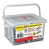 Fischer Kit Smartfix Box, 80 Tasselli con Vite con Gancio per Muro Pieno e Mattone Forato, 531271