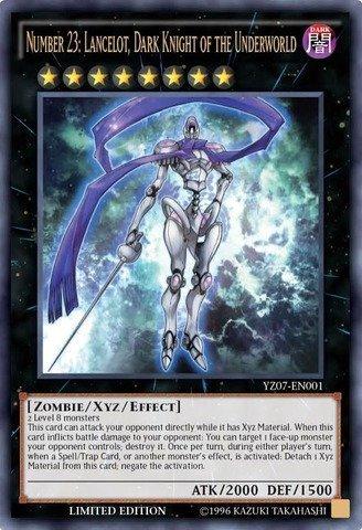 Yu-Gi-Oh! - Number 23: Lancelot Dark Knight of the Underworld (YZ07-EN001) - 5D's Manga Promos - Limited Edition - Ultra Rare by Yu-Gi-Oh!