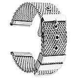 20mm Uhrenarmbänder Edelstahl Metall gewebt Uhrenarmbänder Silber Ersatz Mailand Armbanduhr Herren Damen