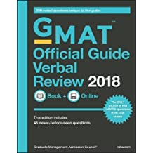 GMAT Official Guide Verbal Review 2018: 300 Verbal Questions Unique to this Guide