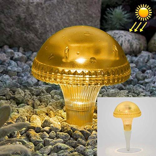 Power-pilze (LIUYX for solar light Klassische shapeLEH-41587 klar Pilz Solar Power Lampe, Garten Hof LED-Licht mit 0,2 W monokristalline Silizium Solar Panel (grün) (Farbe : Gelb))