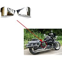 XX ecommerce motocicleta cromo plástico Izquierda Derecha Lado cubierta batería verkleidung Marco de cobertura para 1997