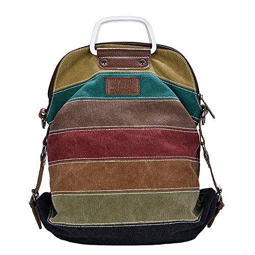 Borsa tote tela donna ragazza multicolore borsetta multifunzione borse a mano sacchetto borse a spalla borse a tracolla borse a zainetto zaino borsette da polso arcobaleno strisce shopping viaggio
